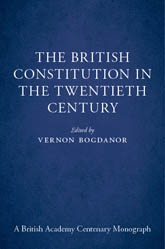 The British Constitution in the Twentieth Century$