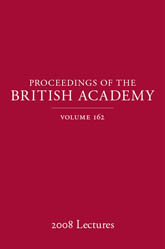 Proceedings of the British Academy, Volume 162, 2008 Lectures$